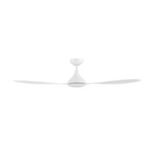 """White Eglo Nevis 2 52"""" (1300mm) DC 3 Blade ABS Indoor/Outdoor Ceiling Fan with Remote Control"""