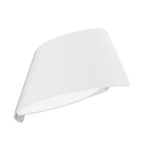 Aten Matt White Exterior 9 watt LED Surface Mounted Curved Up/Down Wall Light