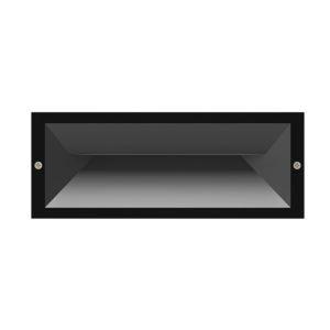 Brick 13 watt Exterior LED Recessed 60 Degree Beam Wall Light in Dark Grey