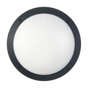 Bulk Round 12 watt LED Bunker Light in Black