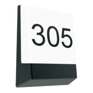 Bulk Letterbox Eyelid 12 watt Warm White LED Light in Dark Grey