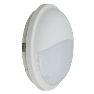 Bulk Round Eyelid 20 watt Warm White LED Bunker Light in White