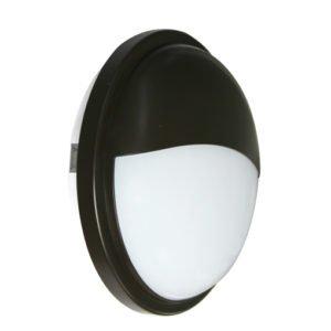 Bulk Round Eyelid 20 watt Cool White LED Bunker Light in Black