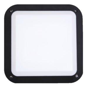 Bulk Square 12 watt LED Bunker Light in Black