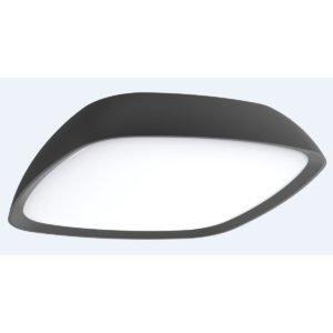 Doccia Dark Grey Exterior 20 watt LED Wall / Ceiling Light