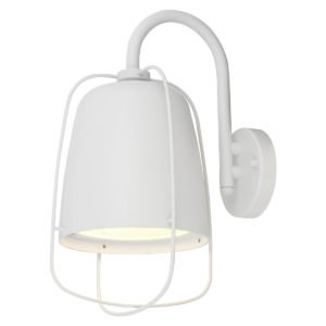 Hink Exterior Surface Mounted ES Wall Lamp in Matt White