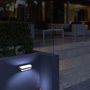 Marina Dark Grey Exterior 7 watt LED Surface Mount Up / Down Wall Light