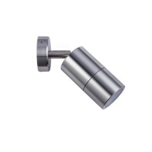 Single Adjustable GU10 Exterior Surface Mounted Wall Pillar Spot Light in Titanium