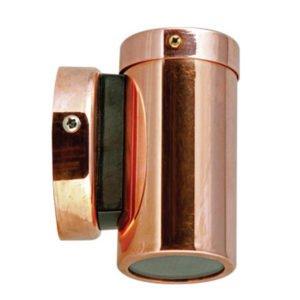 Fixed GU10 Exterior Surface Mounted Wall Pillar Spot Light in Copper