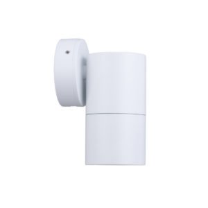 Fixed GU10 Exterior Surface Mounted Wall Pillar Spot Light in White
