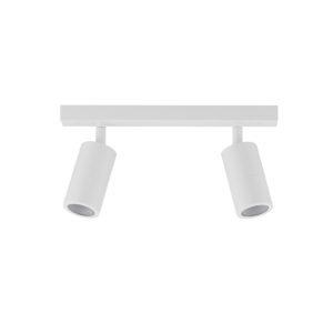 Double Adjustable GU10 Exterior Head Bar Light in White