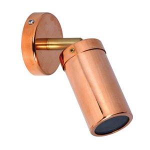 Single Adjustable Brass Knuckle MR16 Exterior Surface Mounted Wall Pillar Spot Light in Copper