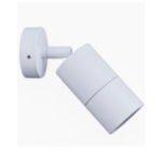 Single Adjustable MR16 Exterior Surface Mounted Wall Pillar Spot Light in White