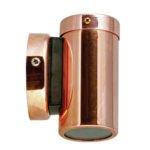 Fixed MR16 Exterior Surface Mounted Wall Pillar Spot Light in Copper