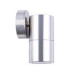 Fixed MR16 Exterior Surface Mounted Wall Pillar Spot Light in Shiny Silver