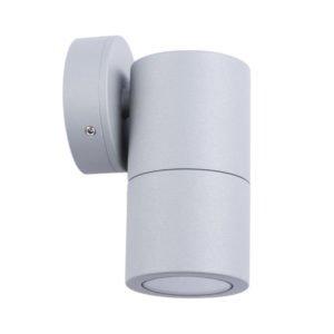 Fixed MR16 Exterior Surface Mounted Wall Pillar Spot Light in Matt Grey