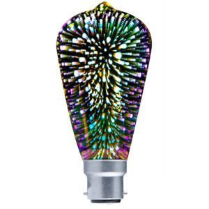 Spectra BC 4 watt LED ST57 Firework Effect Multi Colour Decorative Globe