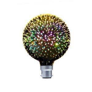 Spectra BC 4 watt LED G125 Firework Effect Multi Colour Decorative Globe