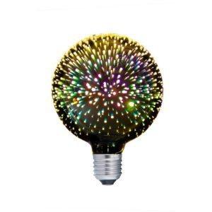 Spectra ES 4 watt LED G125 Firework Effect Multi Colour Decorative Globe