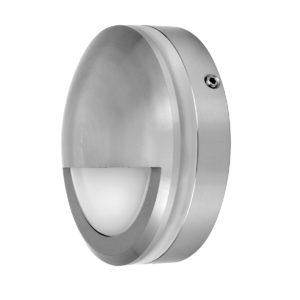 Ste 12V Exterior LED 6 Watt Surface Mount Small Round Eyelid Step Light in Titanium Aluminium