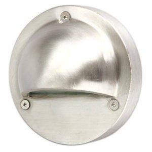 Ste 240V Exterior LED 2.3 Watt Surface Mount Curved Eyelid Step Light in 316 Stainless Steel