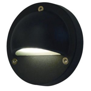 Ste 12V Exterior LED 2.3 Watt Surface Mount Curved Eyelid Step Light in Black