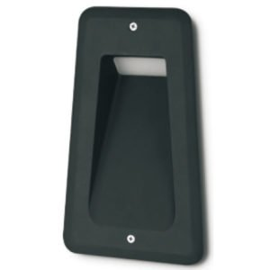 Ste 240V Exterior LED 7 Watt Recessed Trapezium Wall Light with PC Diffuser in Black