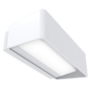 Topa LED 13 Watt Exterior surface mounted Up / Down Wall Light in White
