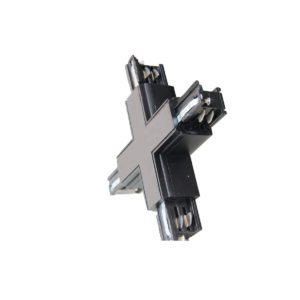 4 Wire 3 Circuit Track Cross-Piece Junction in Black