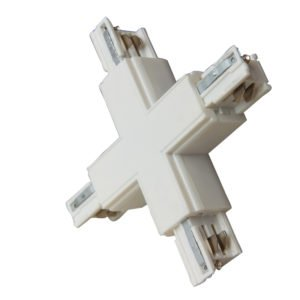 4 Wire 3 Circuit Track Cross-Piece Junction in White