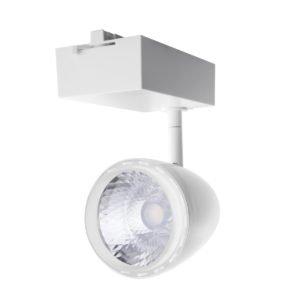 4 Wire 3 Circuit LED 30 Watt Track Head in White in Warm White