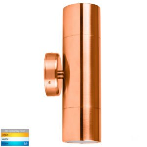 12v DC Tivah Up & Down Wall Pillar Light Solid Copper