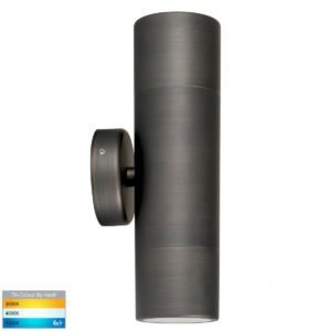 240v Tivah Up & Down Wall Pillar Light Antique Brass