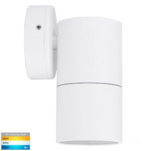 12v DC Tivah Single Fixed Wall Pillar Light White