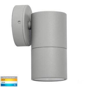 12v DC Tivah Single Fixed Wall Pillar Light Silver