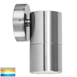 240v Tivah Single Fixed Wall Pillar Light Titanium Aluminium