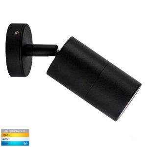 12v DC Tivah Single Adjustable Wall Pillar Light Black