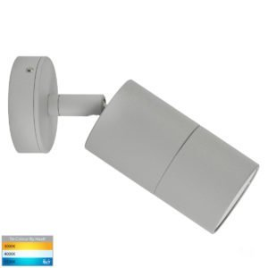 12v DC Tivah Single Adjustable Wall Pillar Light Silver