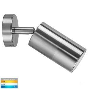 240v Tivah Single Adjustable Wall Pillar Light Titanium Aluminium
