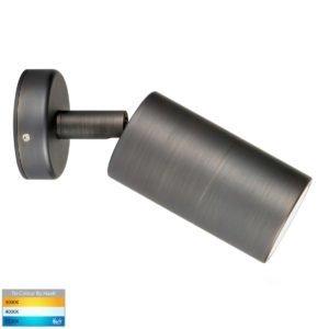 12v DC Tivah Single Adjustable Wall Pillar Light Antique Brass