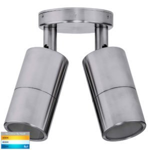 240v Tivah Double Adjustable Wall Pillar Light 316 Stainless Steel