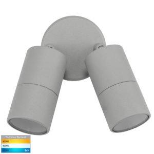 12v DC Tivah Double Adjustable Wall Pillar Light Silver