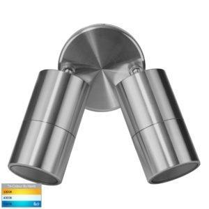 240v Tivah Double Adjustable Wall Pillar Light Titanium Aluminium