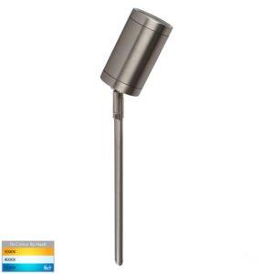 12v DC Eden Single Adjustable Spike Spotlight - 245mm Spike 316 Stainless Steel