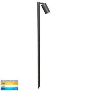 12v DC Tivah Single Adjustable Spike Spotlight - 1000mm Spike Antique Brass