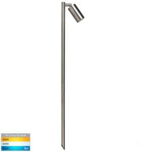 12v DC Tivah Single Adjustable Spike Spotlight - 1000mm Spike 316 Stainless Steel
