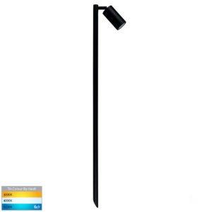 12v DC Tivah Single Adjustable Spike Spotlight - 1000mm Spike Black