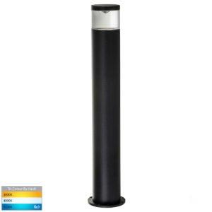 240v GU10 Highlite Black Bollard Light - 445mm