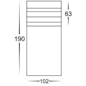 12v DC Mini Louvre Mini Louvred Bollard Light 316 Stainless Steel - 190mm
