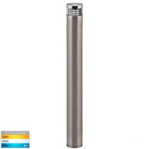 240v Maxi Louvered Bollard Light 316 Stainless Steel - 900mm